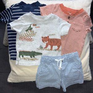 Carter's boy mix & match overalls bundle lot